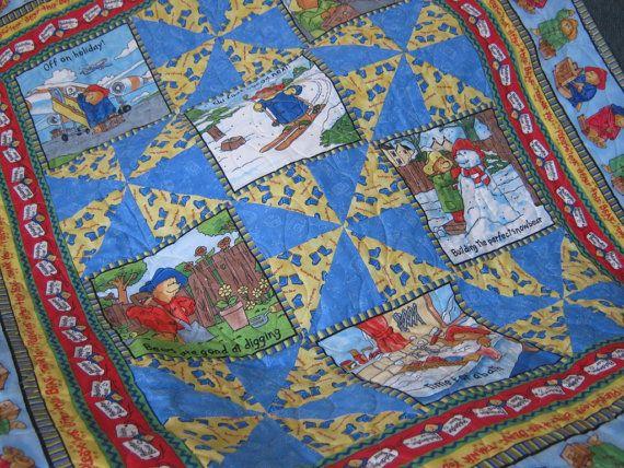 Paddington Bear Baby Quilt or Comforter MADE TO ORDER by bellazahn ... : paddington bear quilt - Adamdwight.com