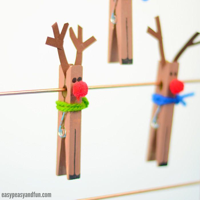 Photo of Clothespin Reindeer Craft