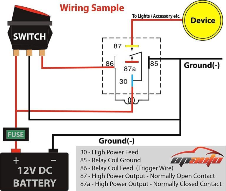 12v 30 Amp Relay Wiring Diagram Bosch For Entertaining Icon In 12v Within Fo U2026 En 2020
