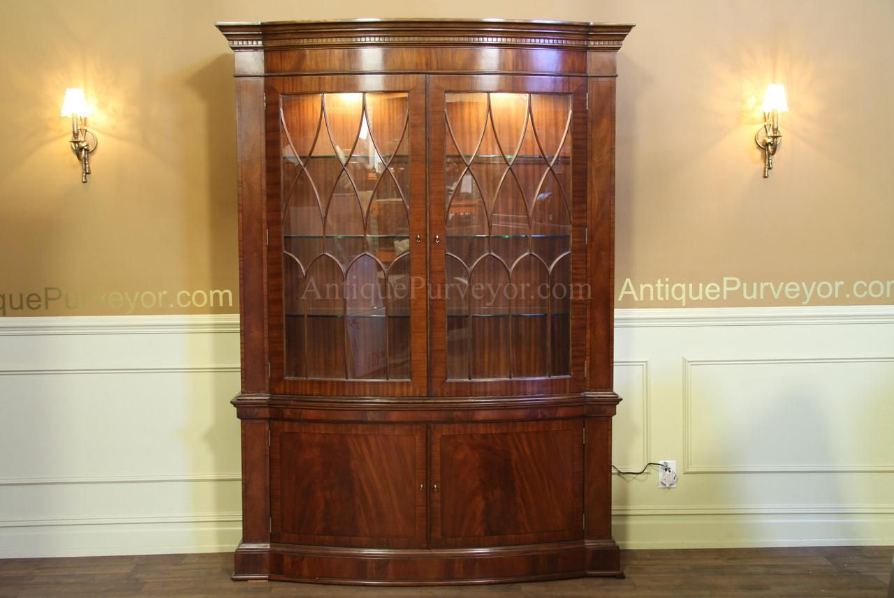 Bow Front China | High End China Cabinet | Mahogany ...
