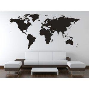 Lovely Wandtattoo Weltkarte in XXL