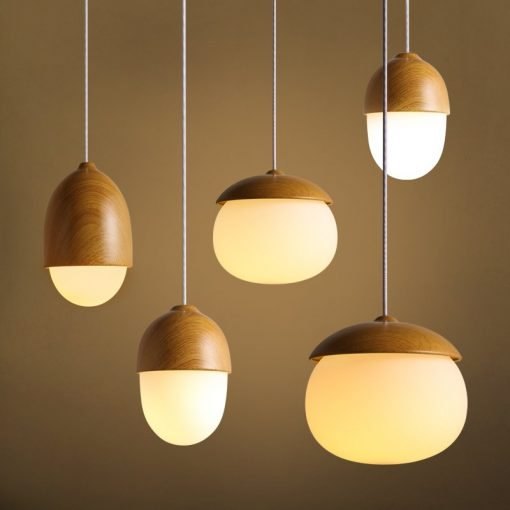 single head creative nut style glass pendant lighting for