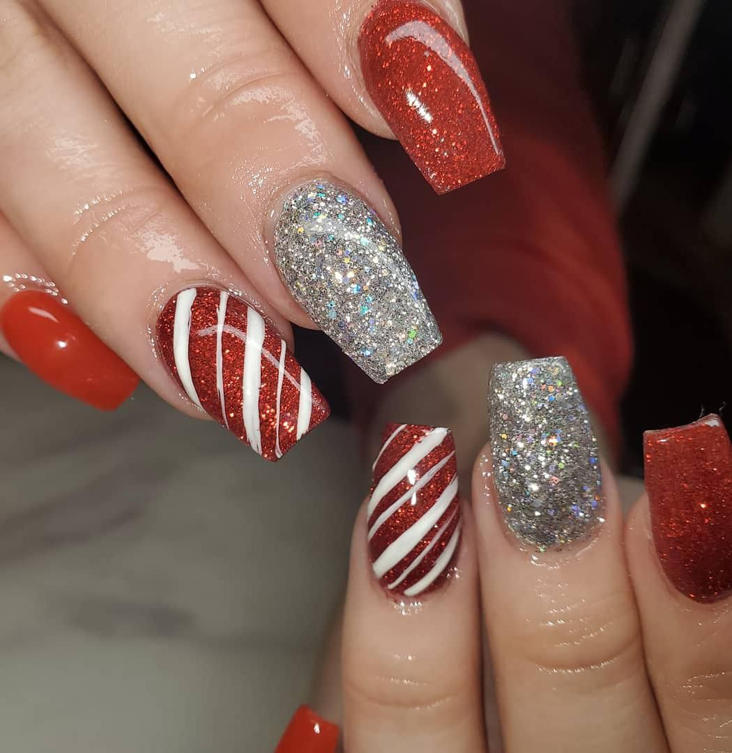 christmas nail designs 1,christmas nails acrylic,christmas