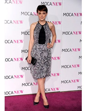I have a crush on Carey Mulligan. And this Prada dress.