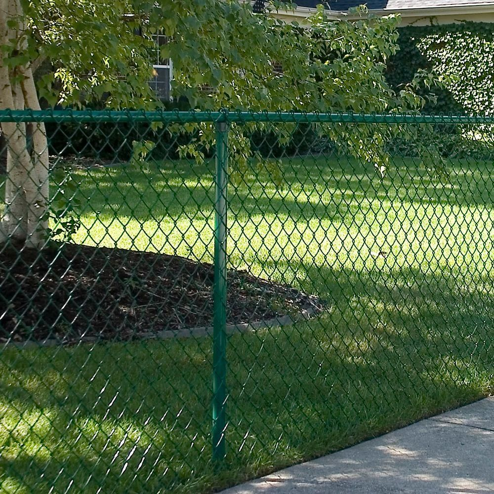 Yardgard Green 1 5 8 In Metal Line Post Fittings Kit 329108a The Home Depot Chain Link Fence Chain Link Fence Gate Painted Chain Link Fence