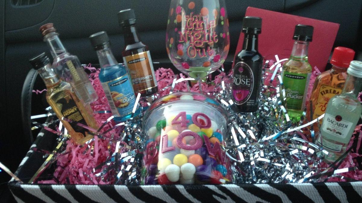 Birthday basket 40th birthday 40th bday ideas