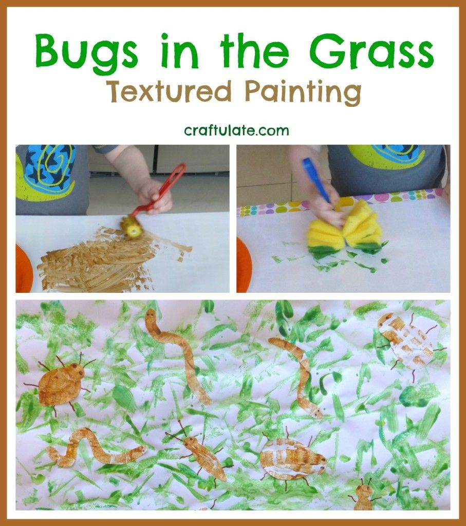 Bugs in the Grass - Textured Painting | Textured painting, Grasses ...