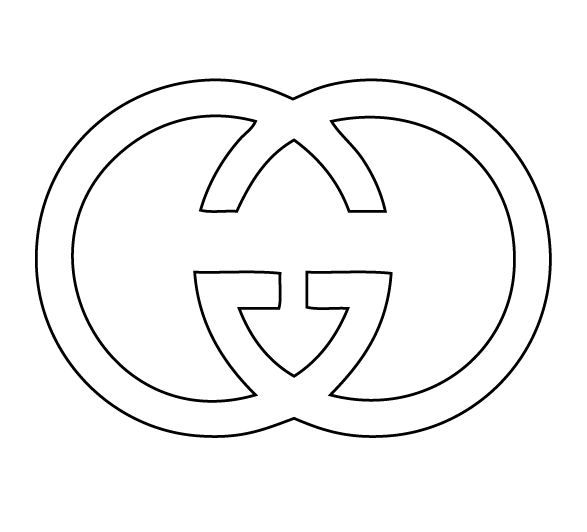 gucci logo coloring pages