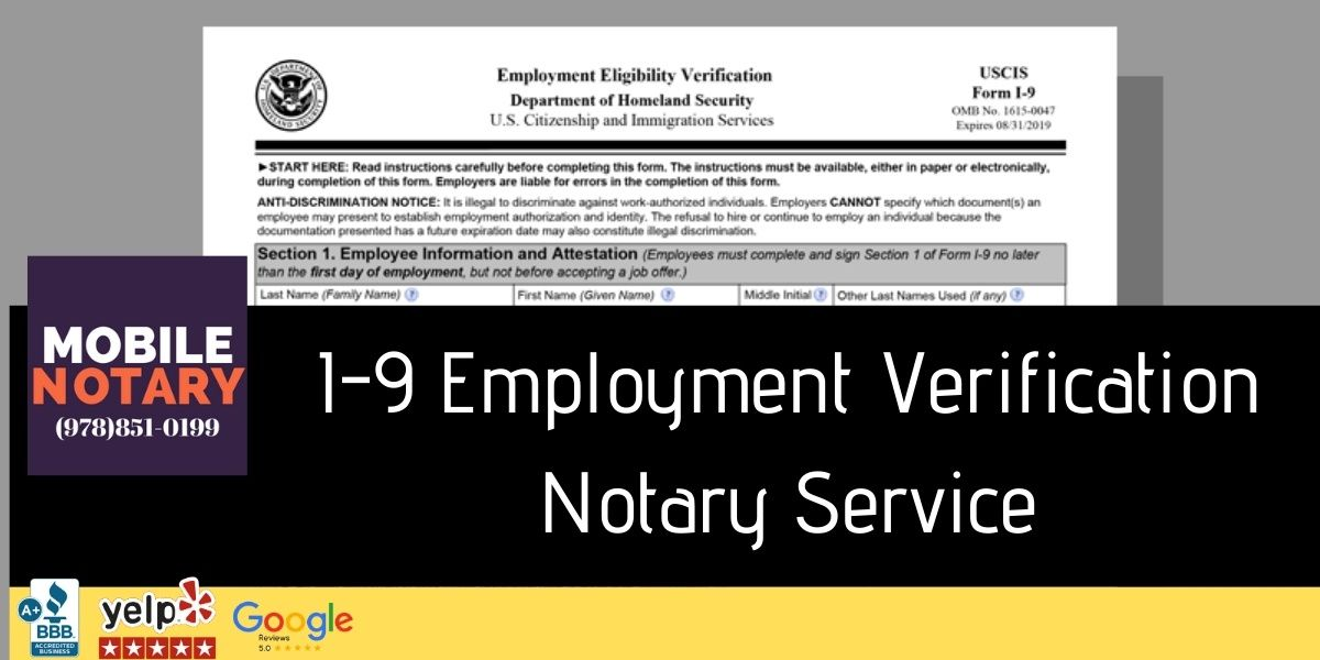 I9 Notary Service Where Can I Find Notary Public To