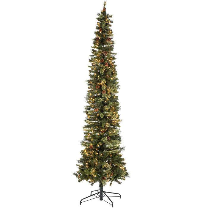 Ultra Slim Bristol Cashmere Pre-Lit Christmas Tree - 9 ...