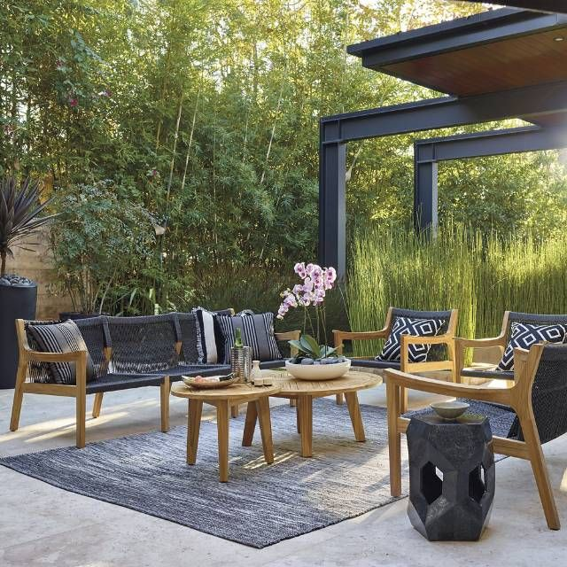 Simplicity Is The Ultimate Form Of Sophistication And Our Avoca Sofa Set Is The Definit Outdoor Furniture Outdoor Furniture Collections Patio Furniture Sets