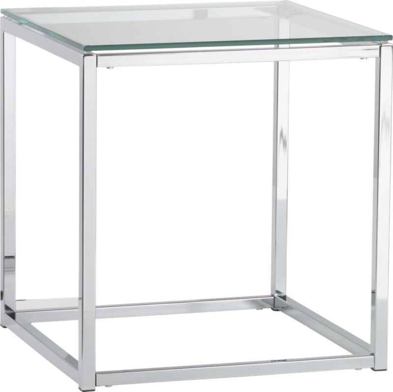 Smart Glass Top Side Table Cb2 Glass Top Side Table Smart