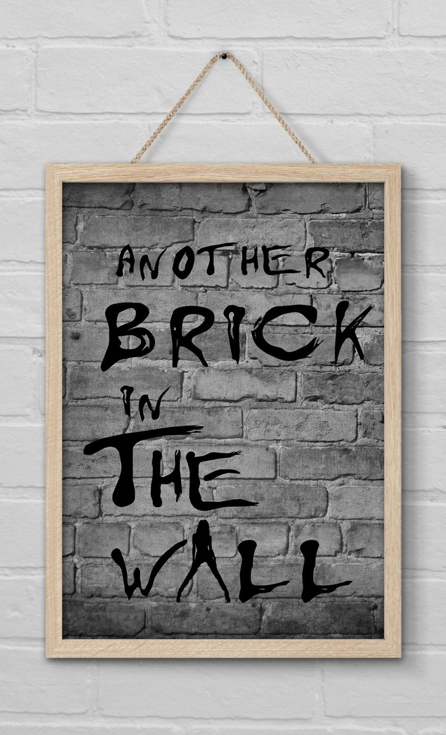 Another Brick In The Wall Pink Floyd With Lady Model Ver 2 Digital Printable Poster Quote Home Decor Wall Art Instant Download Typography By Wordsandtime On