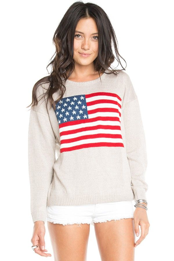 Brandy ♥ Melville   Suzie American Flag Sweater - Just In