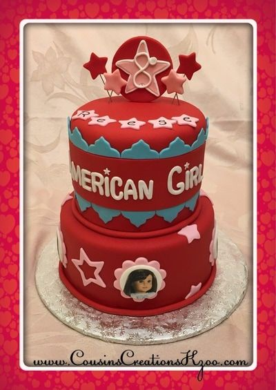 Surprising American Girl Doll Cake Cousins Creations Birthday Cakes For Gals Personalised Birthday Cards Paralily Jamesorg