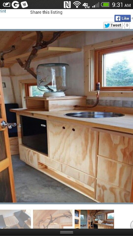 Sink W No Plumbing Tiny House 3 Little House Bunk House House