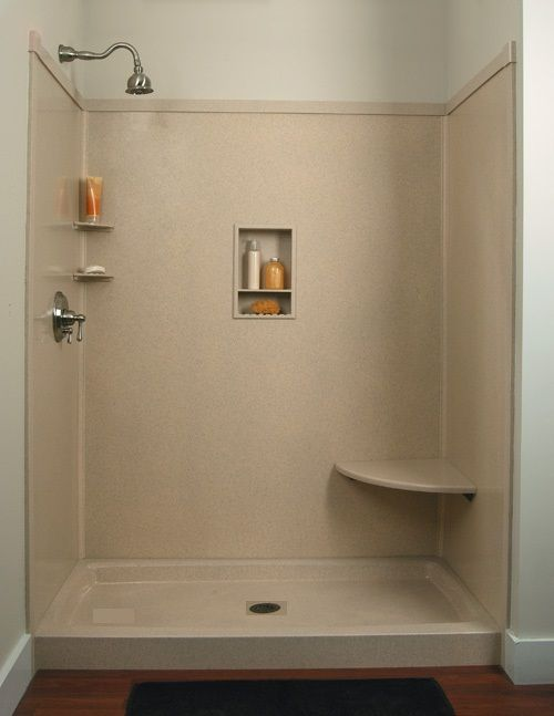 Shower Wall Panels Faux Granite or Marble | Standard size shower ...