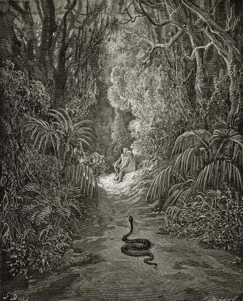 Satan Sin And Death Paradise Lost Book: Satan As A Serpent, Enters Paradise In
