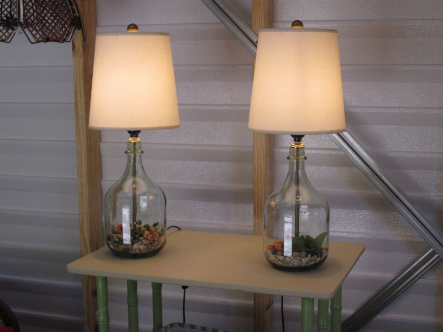 Set Of 2 Table Lamps Bedside Lamps Bedroom Lamps Nautical Decor Glass Table Lamps Modern Decor Small Table L Table Lamp Small Table Lamp Glass Table Lamp