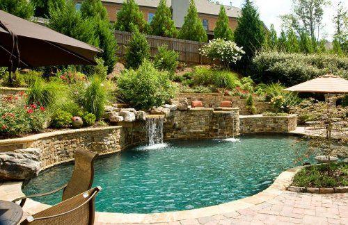 Rock wall for pool--Georgia Classic Pools, Canton,Ga | Pools ...
