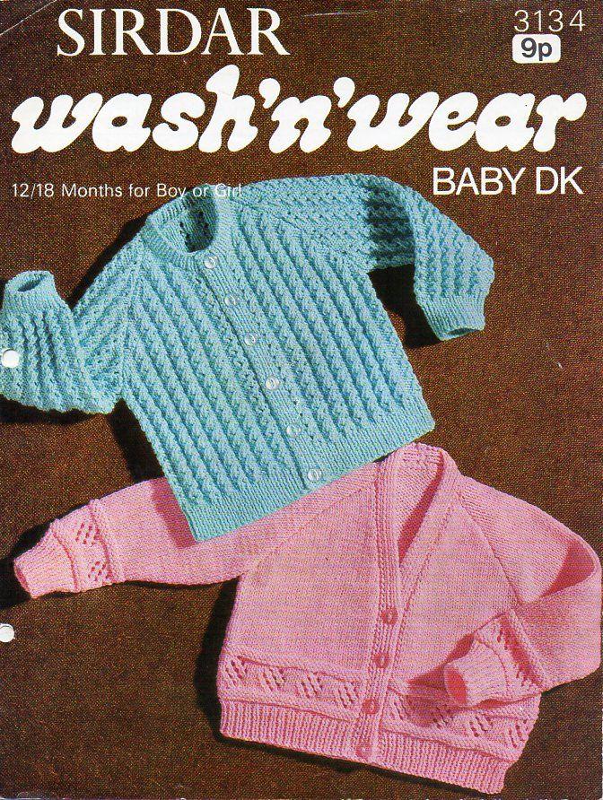 baby cardigan knitting pattern pdf download vintage baby jacket ...