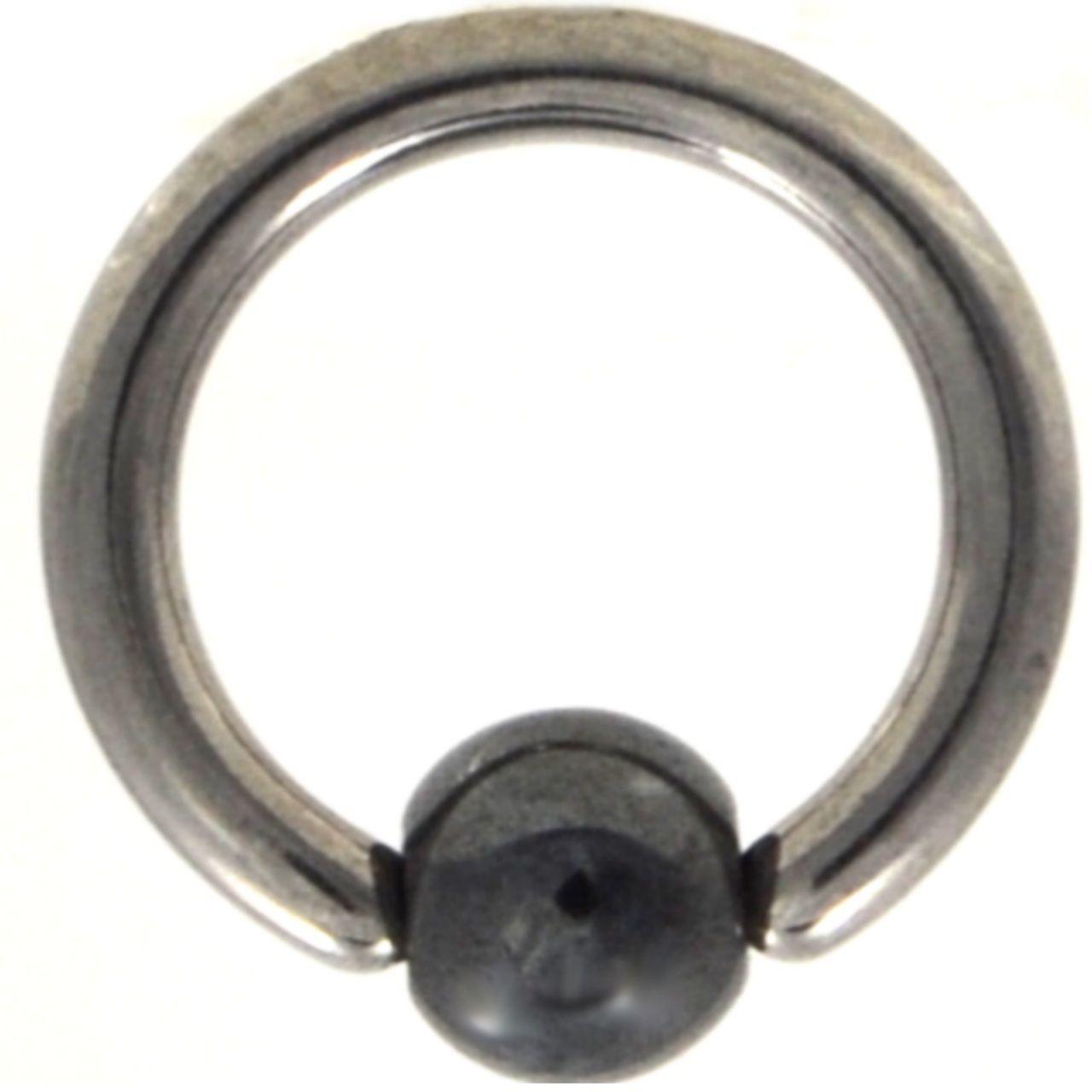 BodyDazz.com - PAIR - Hematite Ball Captive Bead Ring CBR (Available in 18G/16G/14G)