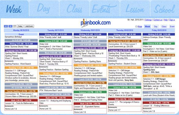 Free 30 Day Trail Planbook Com Teacher Lesson Plans Teacher Lessons Online Teachers