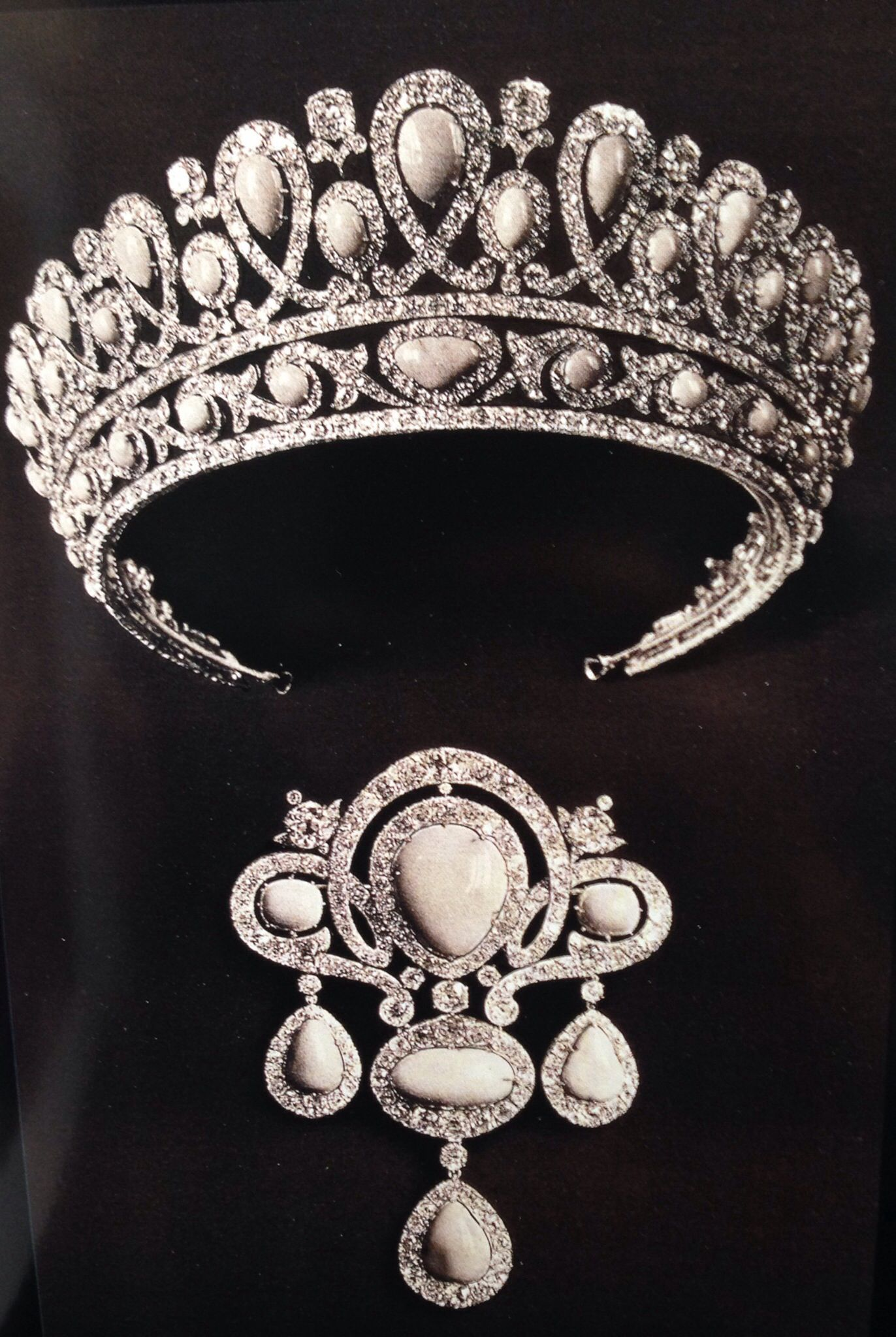 Turquoise And Diamond Tiara And Brooch From The Russian Imperial