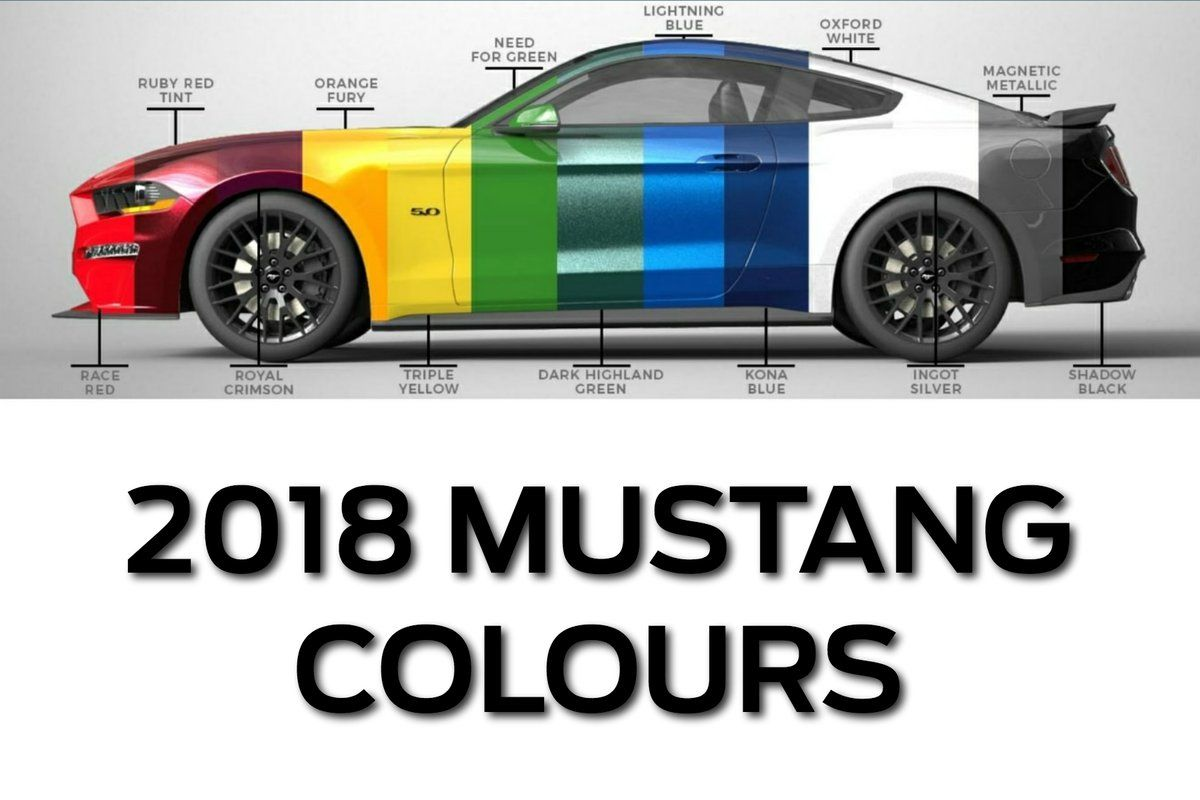 2018 ford mustang colors colours