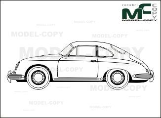 Porsche 356 b coupe blueprints ai cdr cdw dwg dxf eps gif porsche 356 b coupe blueprints ai cdr cdw dwg dxf malvernweather Images