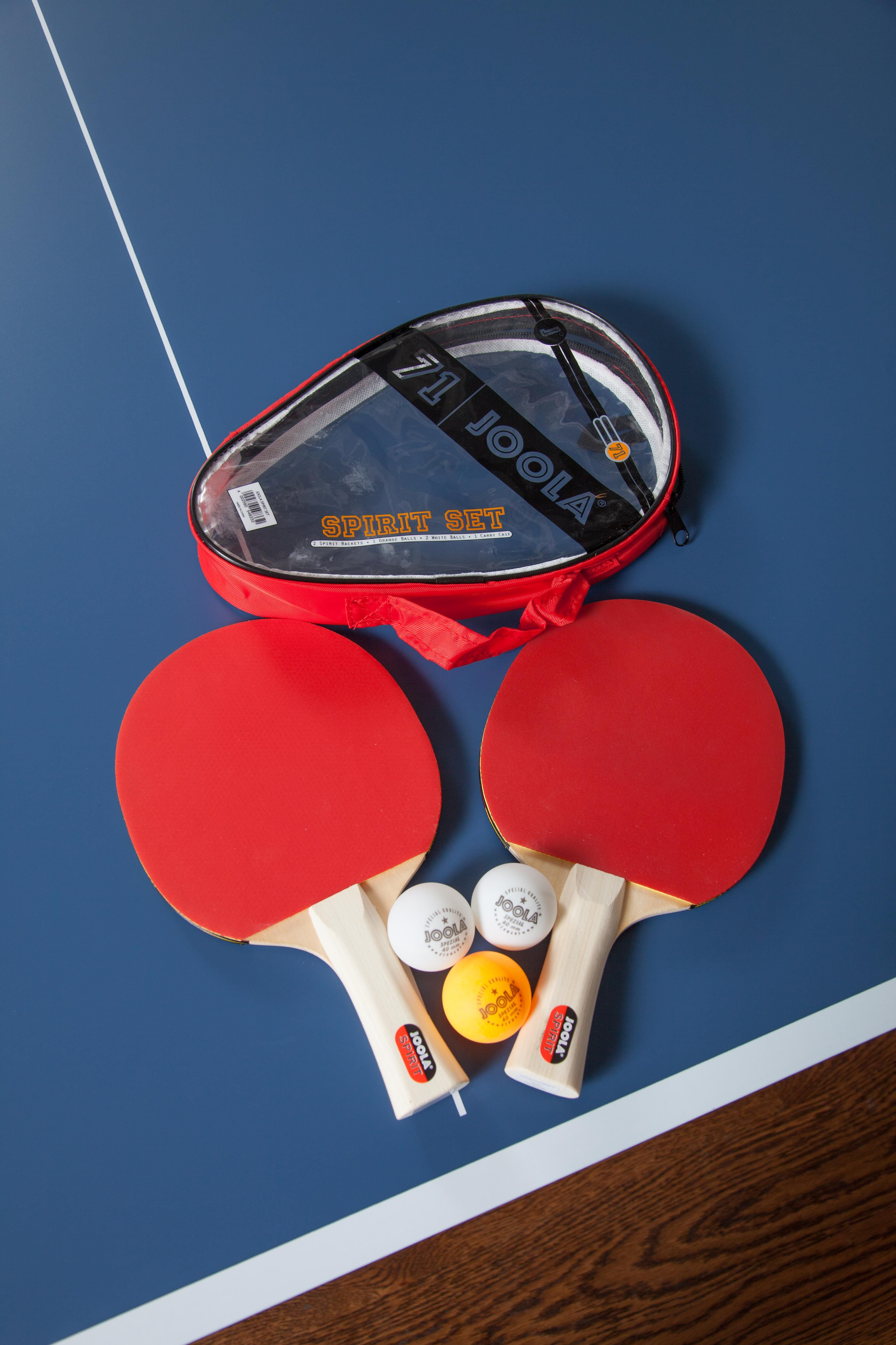 The Joola Spirit Table Tennis Set Is An All In One Kit With 2 Joola Spirit Rackets And 2 White And 1 Orange 40 Table Tennis Set Table Tennis Table Tennis Game