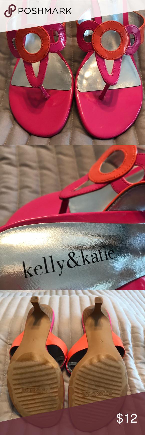 Kelly Katie Kitten Heel Sandals Size 9 Kitten Heel Sandals Kelly Katie Kitten Heels