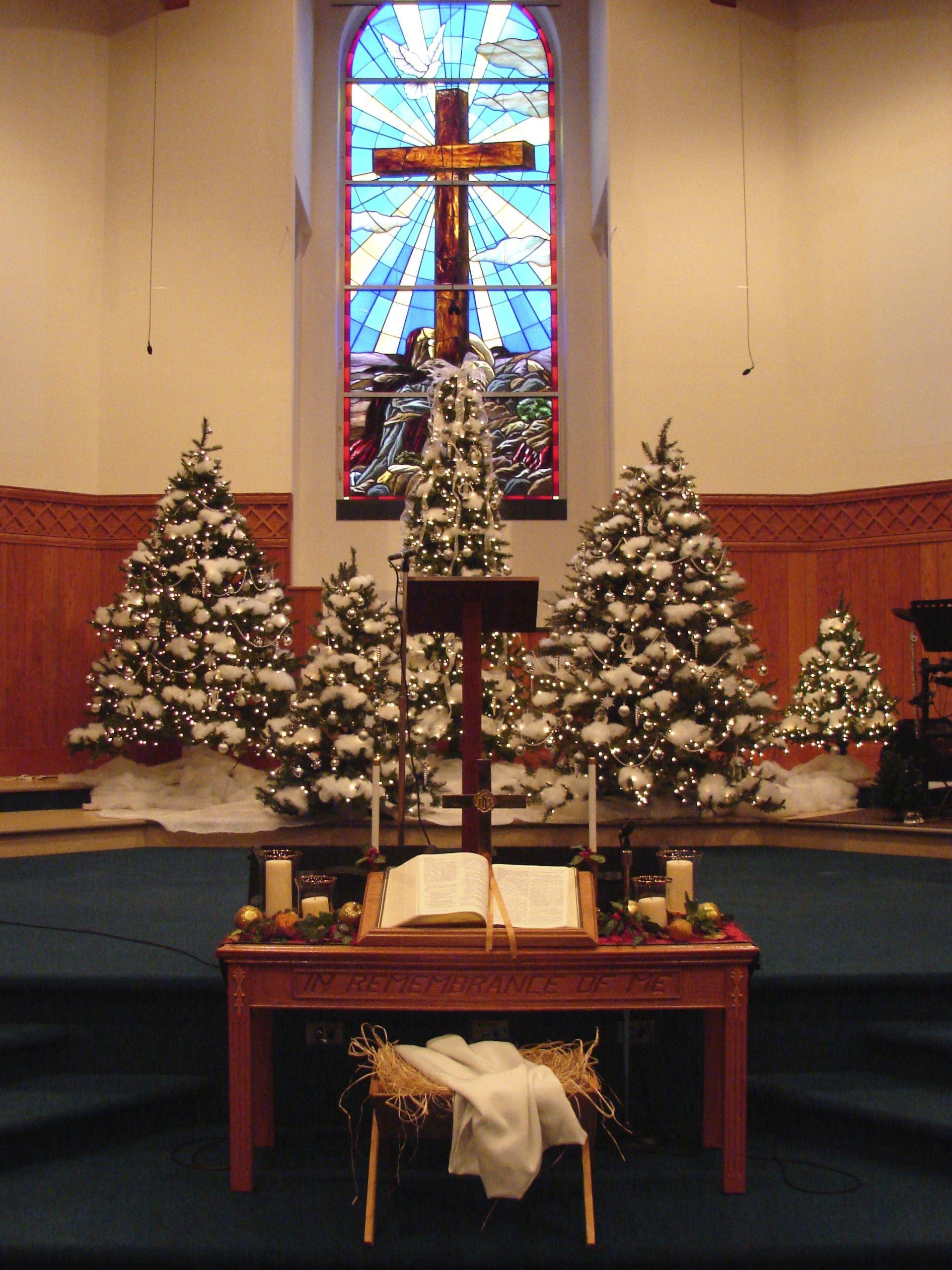 Christmas Eve service setting, Mineral Baptist Church ...