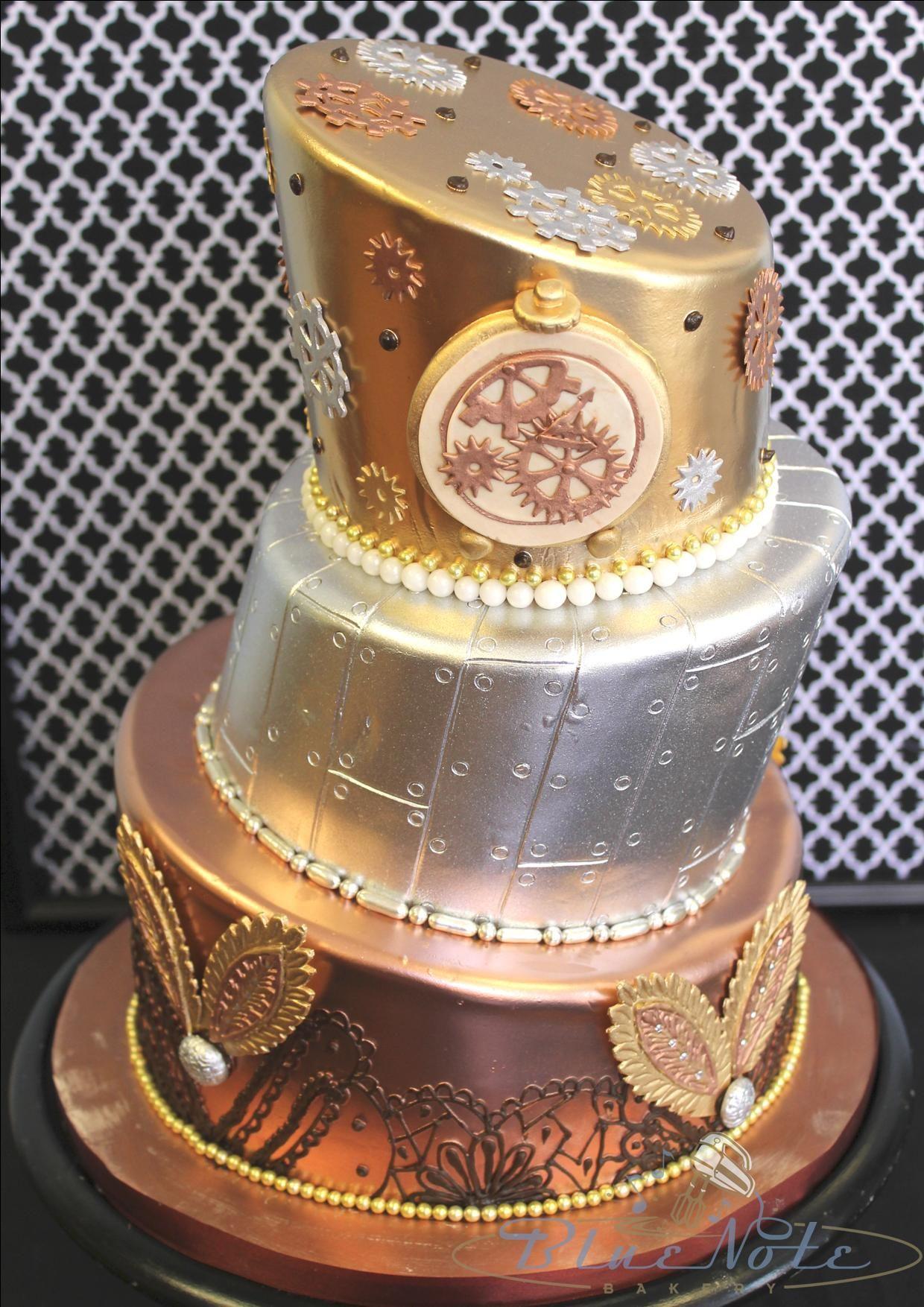 Birthday Cake Steampunk Metal