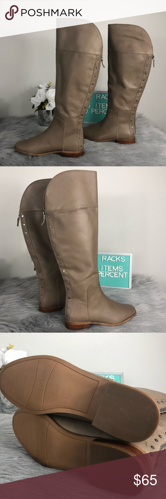 2ae23e5e0c1d Franco Sarto Roselle Tall Riding Boot Back Zip Franco Sarto Roselle Tall  Riding Boot Back Zip Never Been Worn Minor Scuffs From Storage.