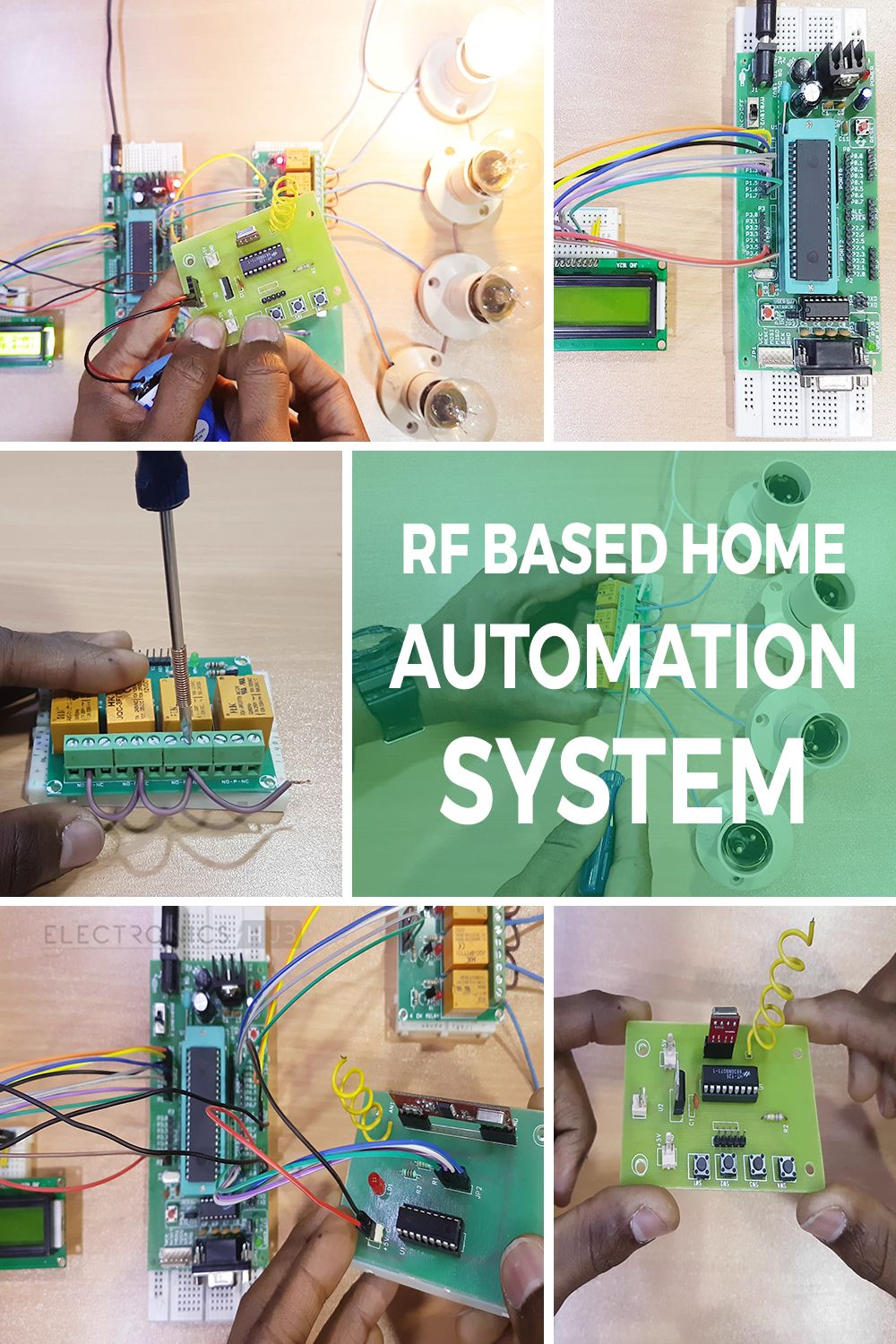 Rf Based Home Automation Using 8051 Microcontroller Circuits Password Door Locking System Circuit Diagram