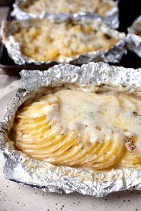 Potatoes Au Gratin Foil Packets ~ Macheesmo