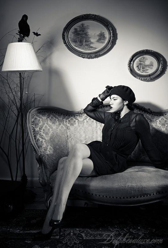 Noir. Dark fashion