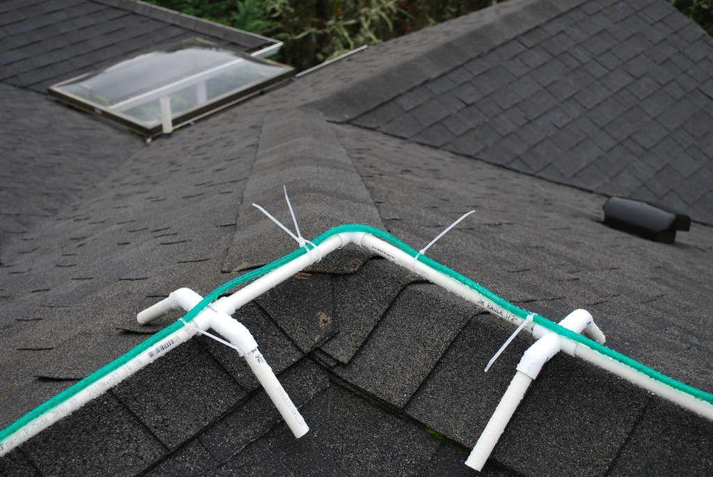 Frame For Installing Christmas Rope Lights On Ridgeline Of Roof Christmas Light Installation Christmas Rope Lights Hanging Christmas Lights