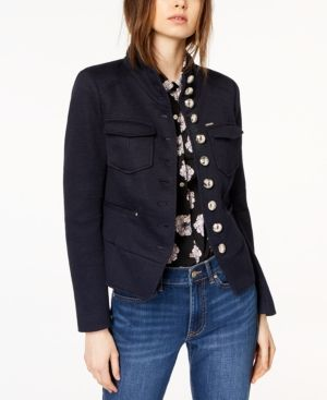 edfbb09643c1e Tommy Hilfiger Tulip-Detail Utility Jacket, Created for Macy's - Blue 16