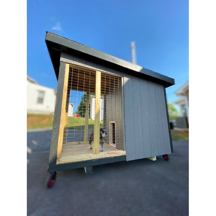 Assembled 5 X9 Double Door Dog Kennel