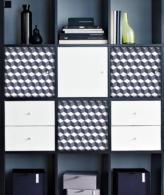 IKEA Hack KALLAX Expedit Furniture Decal Sticker Hexagon Furniture Film  Cabinet Decoration Film Möbeltattoo IKEA Hack