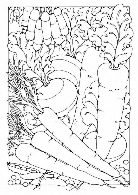 Coloring Page Vegetables Img 18446 Coloring Pages Coloring Pages For Grown Ups Dover Coloring Pages