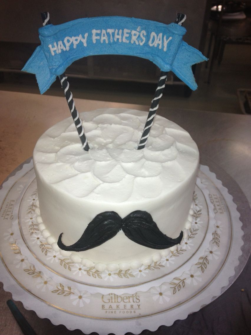 Father S Day Cake With Clothes Line Style Banner And Inscription