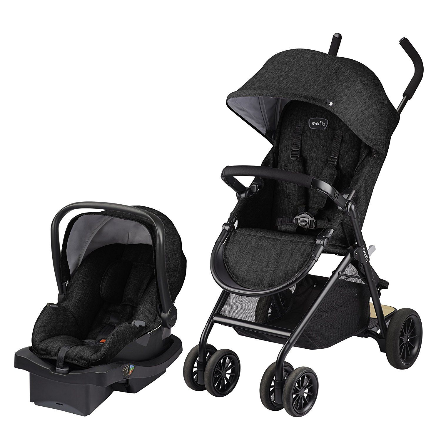 Amazon Evenflo Sibby Travel System Charcoal Baby Best Lightweight StrollerTwin