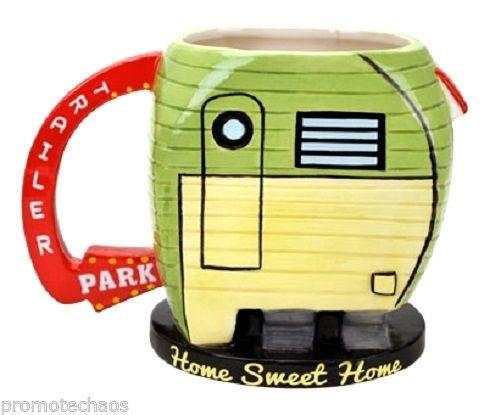 TRAILER PARK COFFEE TEA MUG CUP Home White Trash Novelty Funny Joke Gag Gift NIB