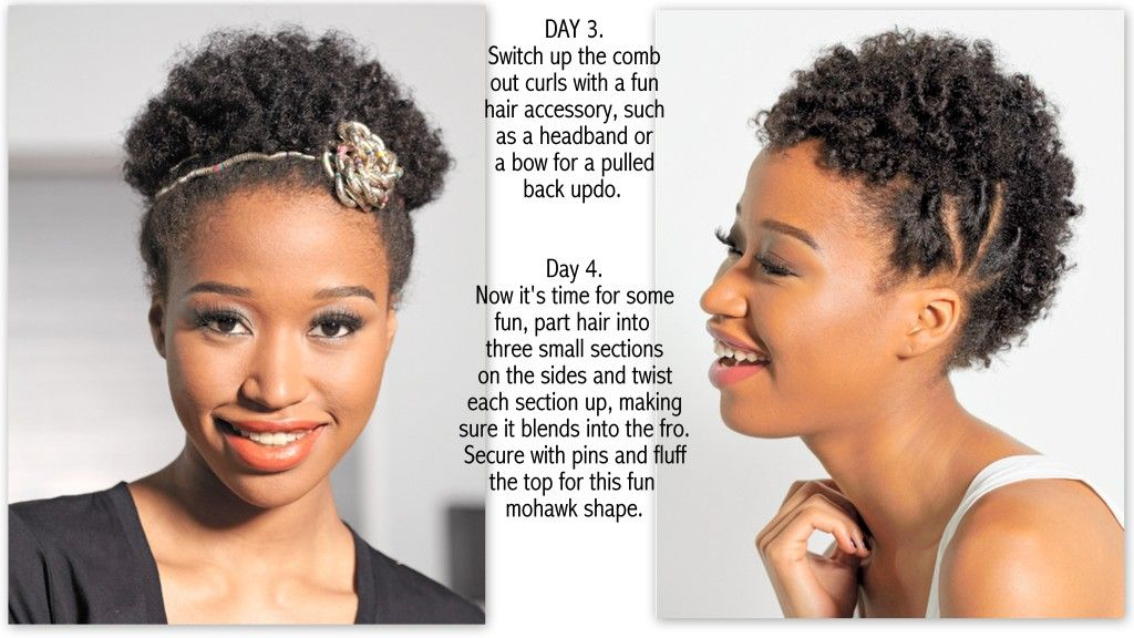 TWA HAIR STYLE IDEAS – 7 DAYS, 7 STYLES