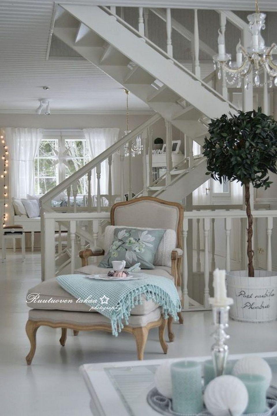Esszimmermöbel design  vintage shabby chic living room decorations ideas  chaise