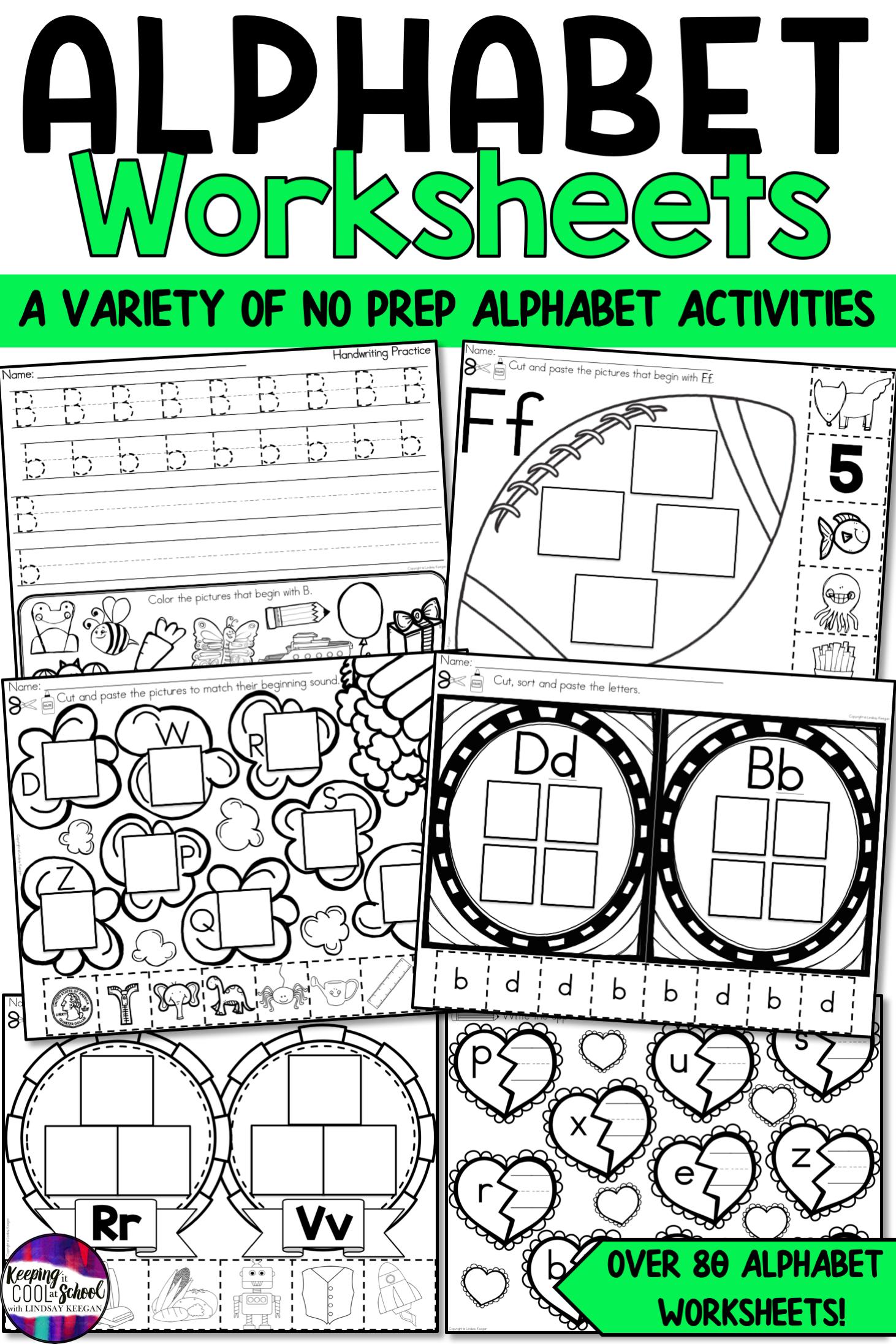 Alphabet Worksheets In