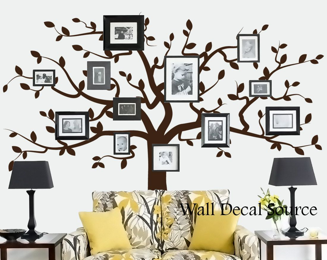 Family Tree Decor For Wall family tree wall decal - vinyl wall tree decal - vinyl wall decor